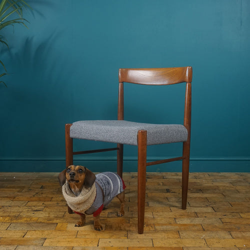 Teak Desk / Dining Chair by H.W. Klein for Bramin