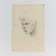 Load image into Gallery viewer, Vintage 1954 Original Nude Female Charcoal Life Drawing by Robert Arthur Bramwell