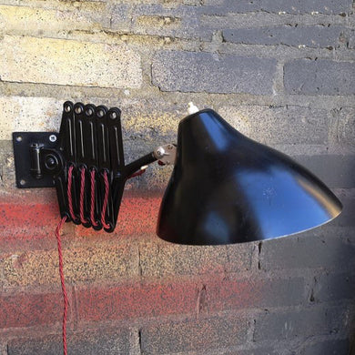 Vintage 1930s BAUHAUS Industrial Scissor Lamp By Hala Lighting Company