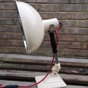 Vintage 1950s Cream Pifco Medical Desk Lamp #4