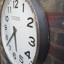 Load image into Gallery viewer, Vintage 1960s Large Japanese Station Clock By Citizen Watch Co