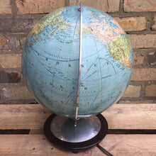 Load image into Gallery viewer, Vintage 1960s Columbus Duo Erdglobus Glass Globe Lamp