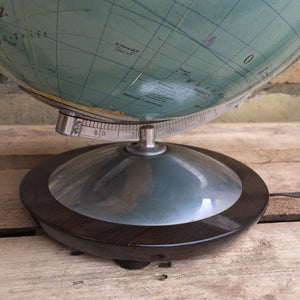Vintage 1960s Columbus Duo Erdglobus Glass Globe Lamp