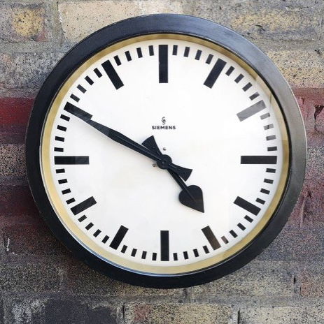 1930s German Factory Clock By Siemens