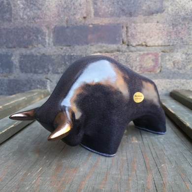 Otto Keramik Ceramic Bull West German Pottery Fat Lava #5