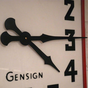 1950s British Made Large Gensign Shop Front Clocks