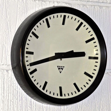 1960s Czech Bakelite Office / Factory Clocks by Pragotron - 1
