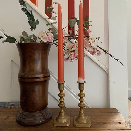Small Vintage Brass Candlesticks #1
