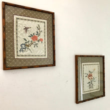 Load image into Gallery viewer, Pair of Framed Antique Chinese Silk Embroidery Art