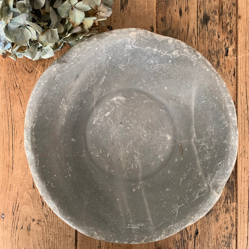 Antique Marble Stone Bowl - 3