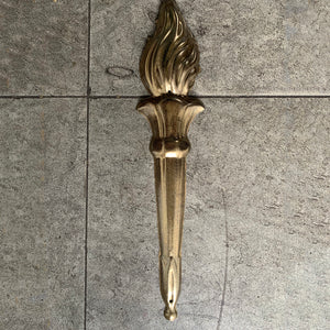 Gold Torch Flame Decorative Ornament