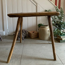 Load image into Gallery viewer, Large Primitive Wood Stool/Side Table