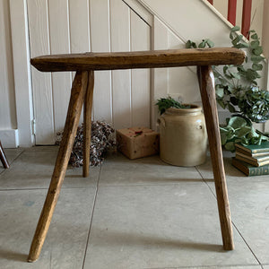 Large Primitive Wood Stool/Side Table
