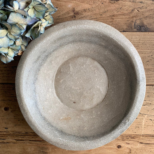 Antique Marble Stone Bowl - 5
