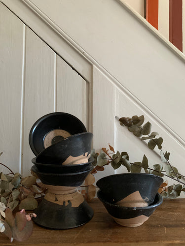 Small Chinese Pottery Soup Bowls