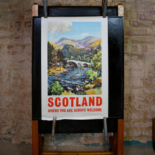 Load image into Gallery viewer, Original Scotland Travel Poster of the River Dee by James Porteous Wood