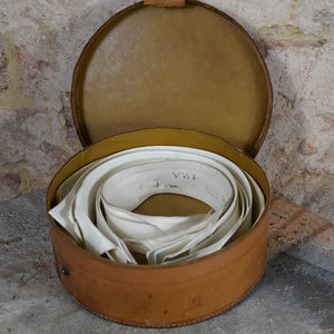 Antique Detachable Shirt Collars in Leather Travel Case