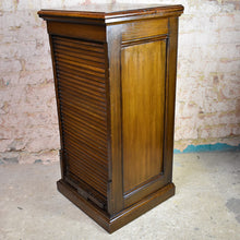 Load image into Gallery viewer, Antique Amberg tambour fronted filing cabinet drawers office cabinet Storage