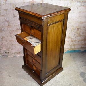 Antique Amberg tambour fronted filing cabinet drawers office cabinet Storage