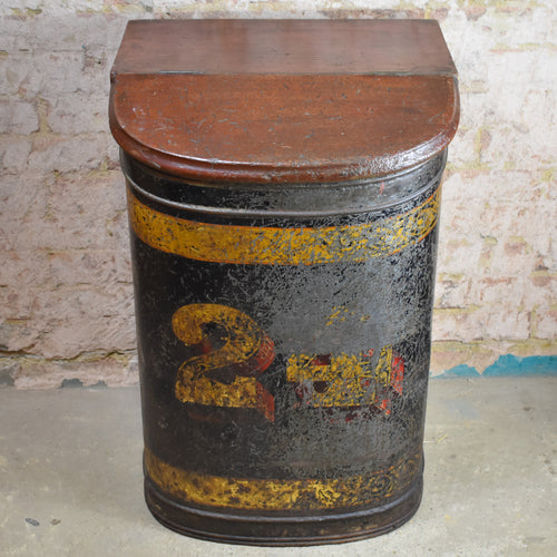Antique 1880 Parnall & Sons Tea Grocery Bin Toleware Shop Fitters Haberdashery