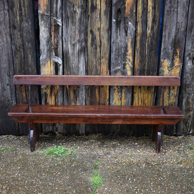 Antique Train Platform Bench Reversible Tram Seat Railway Double Sided