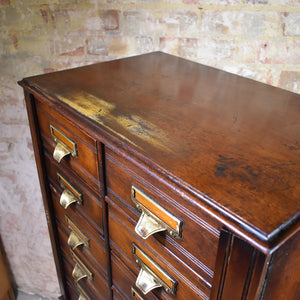 Antique Oak Shannon Limited Office Filing Cabinet Home Office Storage