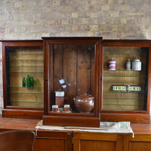 Load image into Gallery viewer, Antique Mahogany Shop Display Cabinet Haberdashery Shop Fittings Kitchen