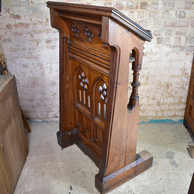Antique Pine Church Choir Stall / Bible Rest