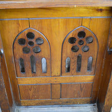 Load image into Gallery viewer, Antique Pine Church Choir Stall / Bible Rest