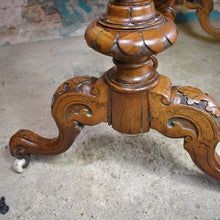 Load image into Gallery viewer, Antique Victorian Walnut Extendable Card Table