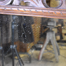 Load image into Gallery viewer, Antique Victorian Oak Mirror With Carved Frame