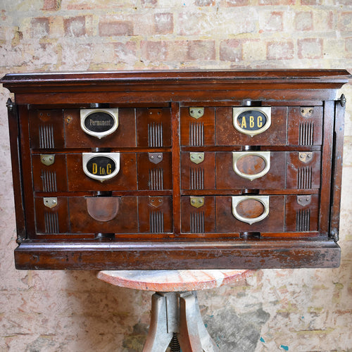 Antique Amberg Filing Drawers Bank of Drawers Storage Office Cabinet