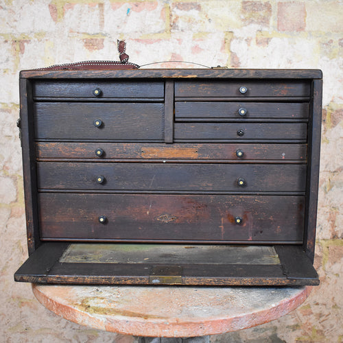 Antique Neslein Engineers Bank of Drawers Draughtsmen's Tool Chest Cabinet
