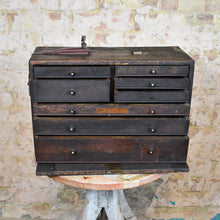 Load image into Gallery viewer, Antique Neslein Engineers Bank of Drawers Draughtsmen's Tool Chest Cabinet
