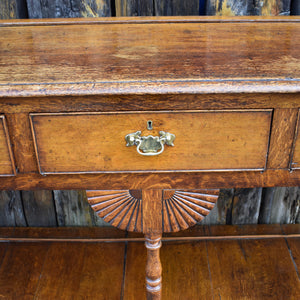 Antique Oak Georgian Console Table Sideboard Buffet Dresser