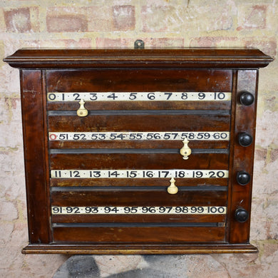 Victorian Antique Billiards Scoreboard Mahogany Snooker Scorer