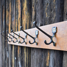 Load image into Gallery viewer, Vintage Original School Hooks Metal Numbered Antique Cast Iron