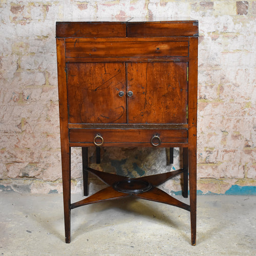 Antique Mahogany Georgian Fine Washstand Mirror Dressing Table Side Cabinet