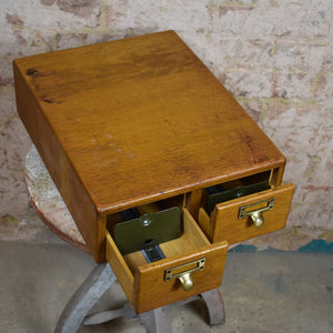 Vintage filing cabinet index drawers bank of drawers recipe index cards
