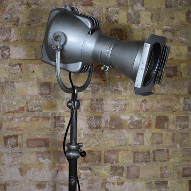 Vintage Original Patt 23 Strand Light Metal Stand Theatre Spotlight Lamp Floor