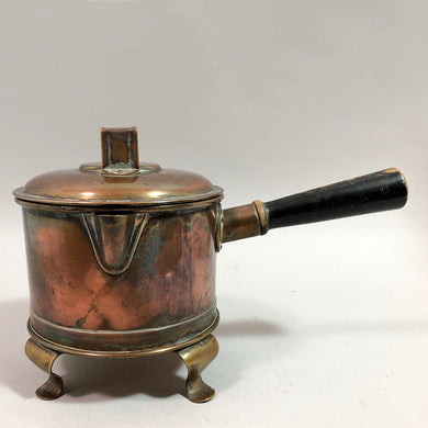 Antique Lidded Copper Pan