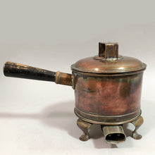 Load image into Gallery viewer, Antique Lidded Copper Pan