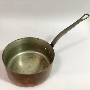 Antique Tin-Lined Copper Pan