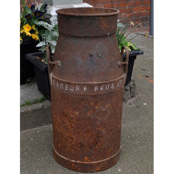 Rusty Vintage Milk Churn - Cadbury Bros