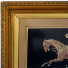 Load image into Gallery viewer, Antique French Fine Woven Silk Panel - Race Horse & Jockey Rider