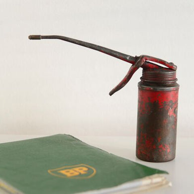 Red Vintage Oil Lubrication Can - Small