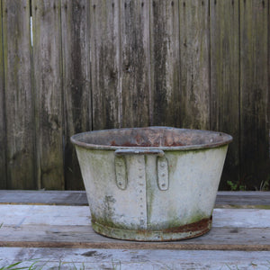 Large Galvanised Planter Garden Pot Heavy Duty