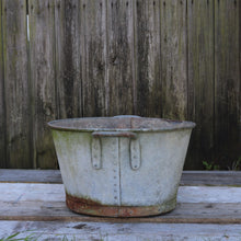 Load image into Gallery viewer, Large Galvanised Planter Garden Pot Heavy Duty