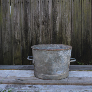 Vintage Galvanised Planter Garden Pot Heavy Duty #1
