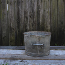 Load image into Gallery viewer, Vintage Galvanised Planter Garden Pot Heavy Duty #1